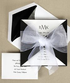 our wedding invites are certainly a part of the wedding i would love to go bac and change. we spent hours on them and they didn't even look good! something like this would have been simple and elegant.