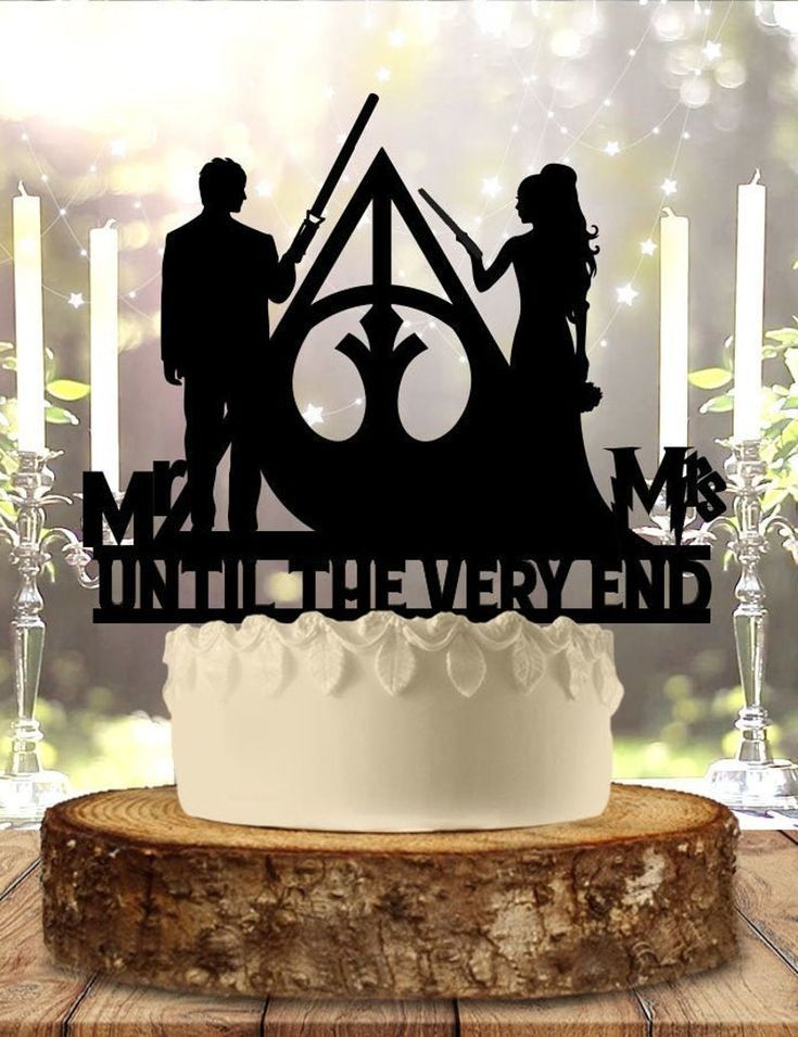Jedi and mage until the very end wedding cake topper