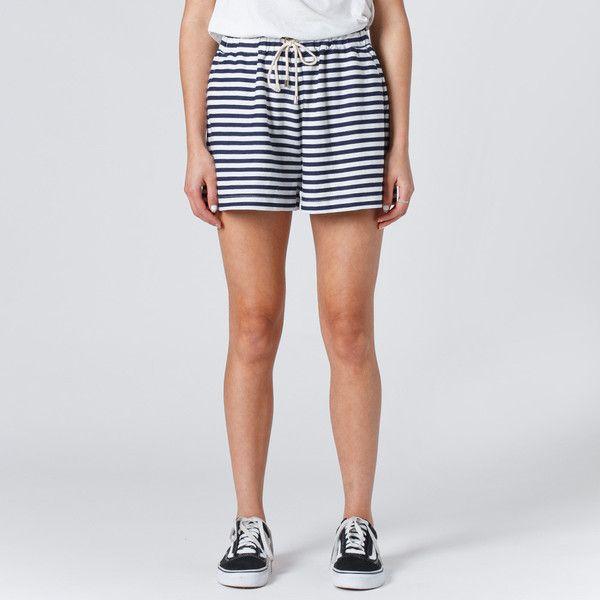 Huffer Knit Jogger Short - Navy Stripe   Thanks Store Online