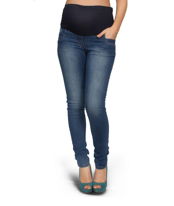 Jeans premaman Dark blue stone used - PremamanOnline.com Indossa la moda jeans per essere una mamma sempre al top! Un jeans perfetto per una futura mamma sempre attenta alle tendenze. Indossa questo jeans premaman con risvolti al fondo e sarai comodissima e trendy!