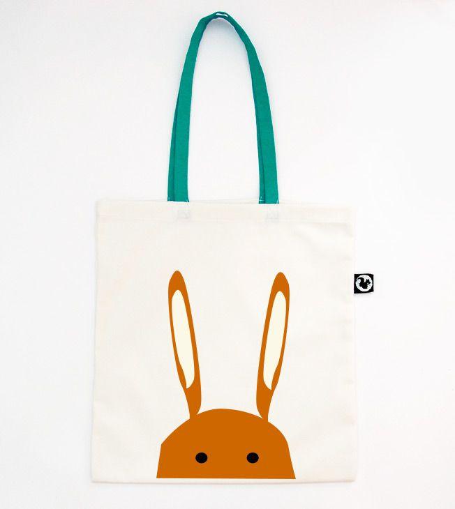 Orangina Rabbit totebag. Aqua colour straps.  #totebags #screen #printed #aqua #colour #handmade #serigrafia #diseño #orange #rabbit #bag  #conejo #naranja