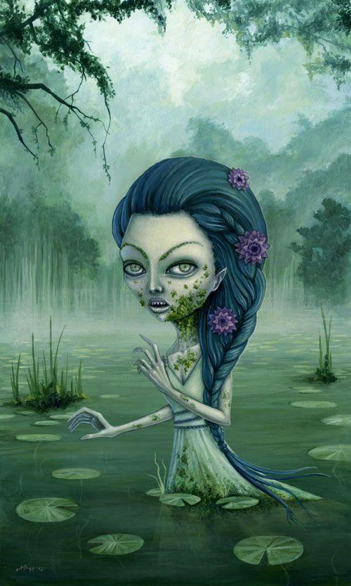 """Made by: Megan Majewski , """"Eleionomae""""  - (Woman standing in water)"""