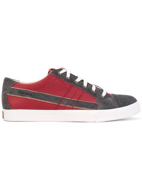 DIESEL . #diesel #shoes #缝线细节板鞋