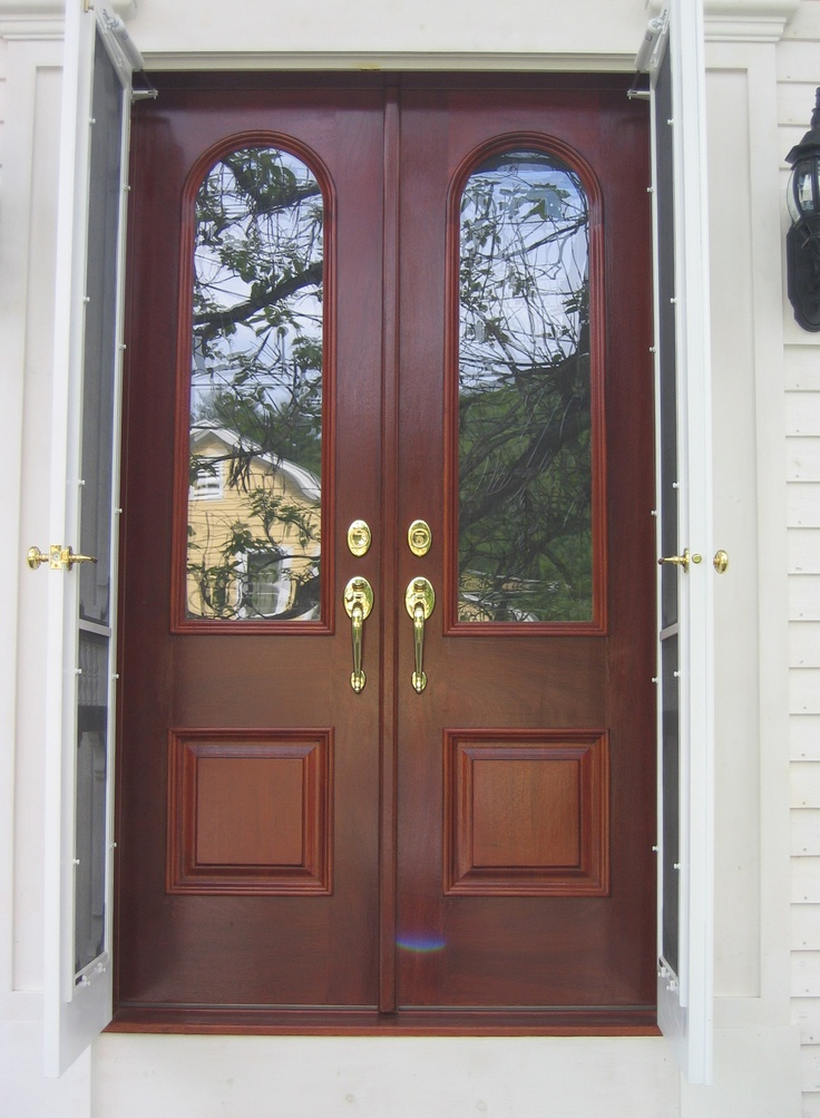 63 best ideas about exterior doors on pinterest glass for Storm doors for double entry doors
