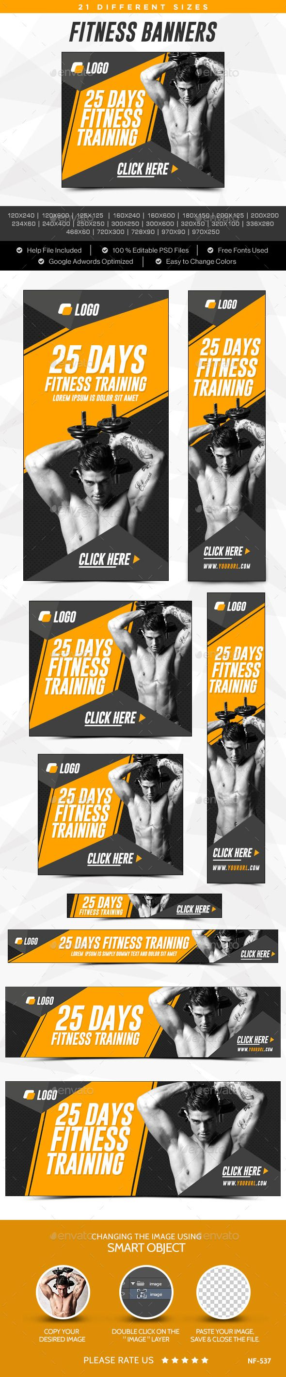 Fitness Banners Template #design Download: http://graphicriver.net/item/fitness-banners/12297869?ref=ksioks