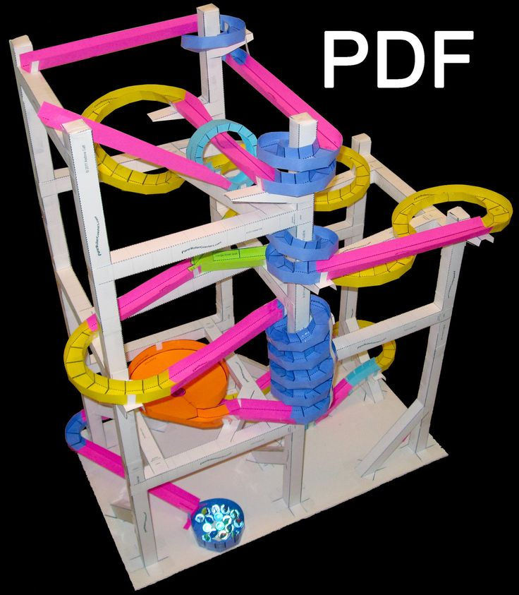 Rollers paper roller coaster for Free printable paper roller coaster templates