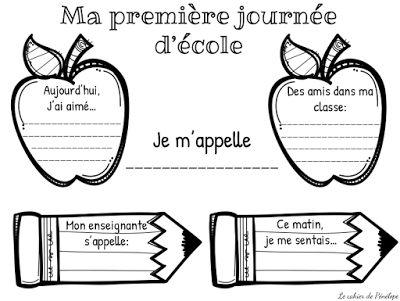 GRATUIT: Vive la rentrée! Faire vos élèves écrire au sujet d'eux-mêmes la première journée d'école