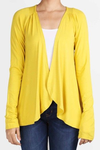 another yellow cardi