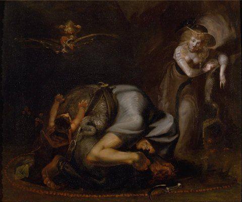 """Scene of Witches, from """"The Masque of Queens"""" by Ben Jonson,1785 by Johann Heinrich Füssli"""