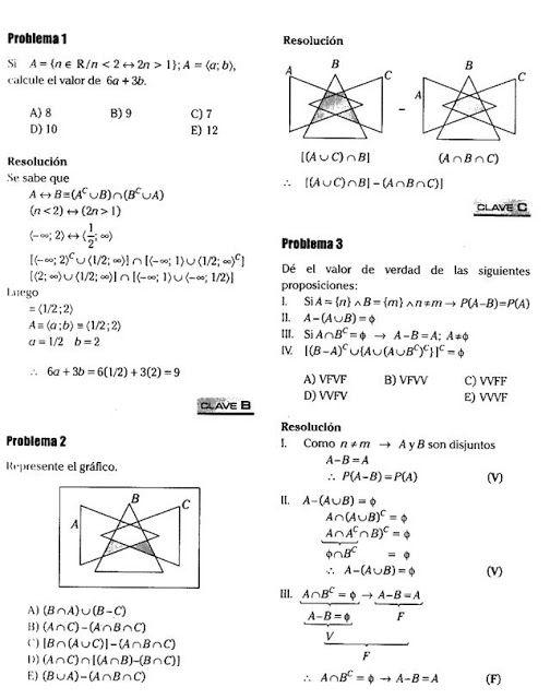 Problemas resueltos sobre Teoría de Conjuntos « Blog del Profe Alex