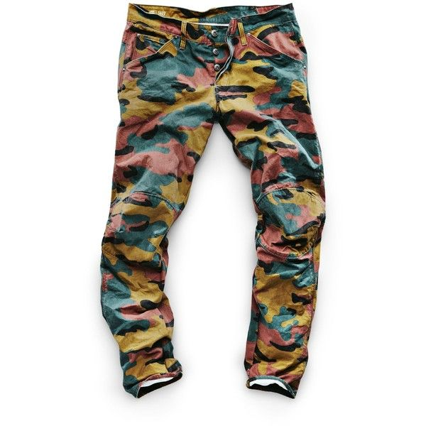 G-Star RAW G-Star Elwood X25 3D Tapered Men's Jeans ($170) ❤ liked on Polyvore featuring men's fashion, men's clothing, men's jeans, mens slim fit tapered jeans, mens camo jeans, mens tapered jeans, mens big star jeans and mens jeans