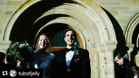 SOOO exciting to see our handcut confetti  Bespoke colourful star confetti fluttering around the lovely & talented @daisybisley & her husband for their awesome movie themed wedding   #Repost thanks to the gorgeous work of @tubofjelly with @repostapp ・・・ check out these happy bunnies over on @brawbrides
