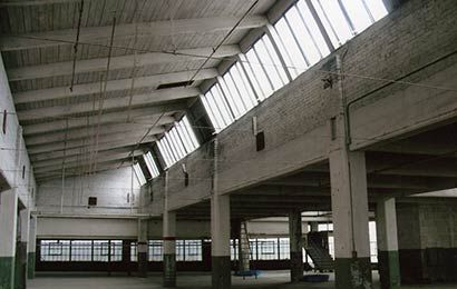 Interior Of An Industrial Building With Exposed Wood