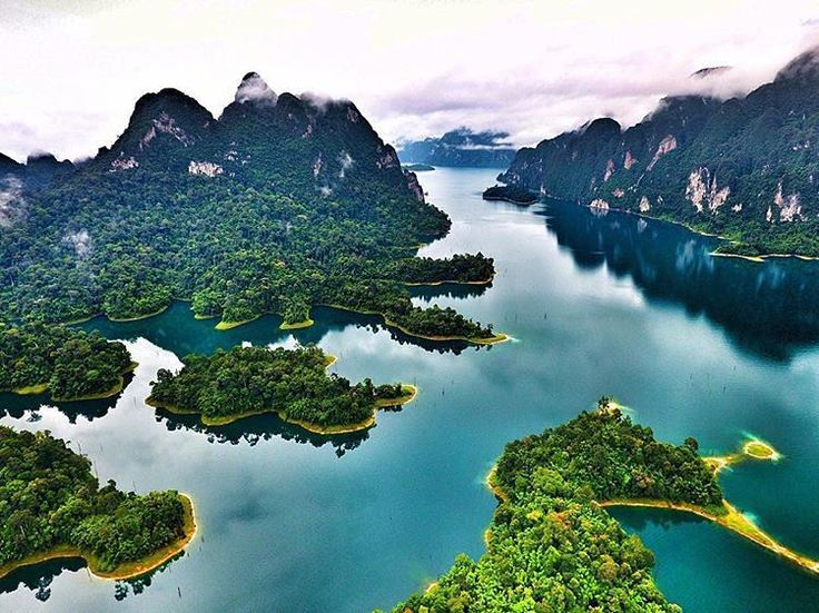 Cheow Lan Lake in Surat Thani Province, Thailand.