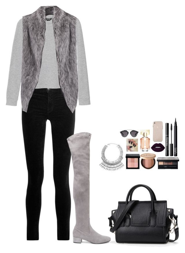 """""""Untitled #483"""" by mariapangal on Polyvore featuring J Brand, Monki, DKNY, René Caovilla, Tobi, Bobbi Brown Cosmetics, Too Faced Cosmetics, NARS Cosmetics, HUGO and Christian Dior"""