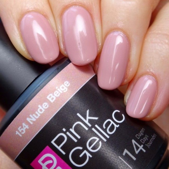 Get Pink Gellac 154 Nude Beige gel nail polish colour at www.pinkgellac.co.uk