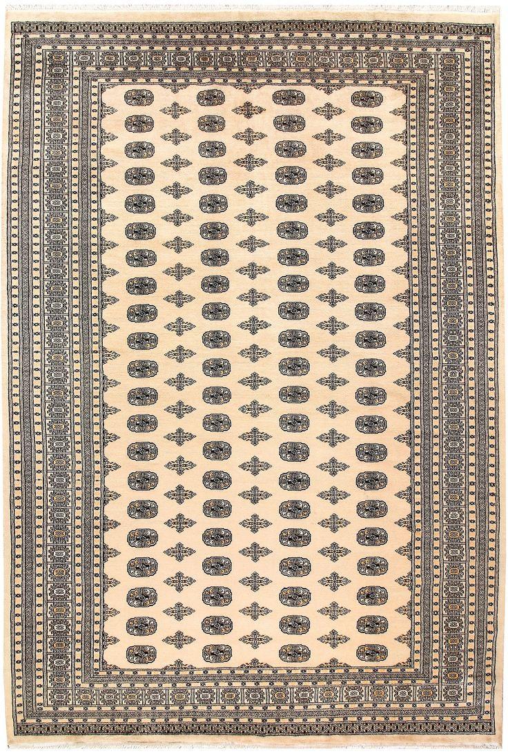 8' x 11' 8 Handknotted Pakistani Wool Bokhara Oriental