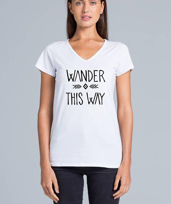 Wander this way Fair Trade 100% Cotton Tee - Australian designed & printed