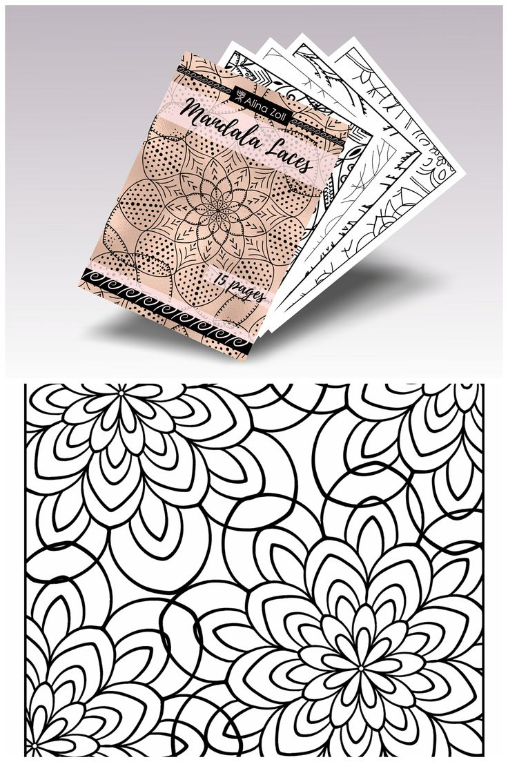 Digital Adult Coloring Book Mandala Laces Printable Pages For Adults PDF Advanced