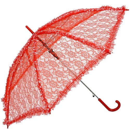 Buy Red Lace Chinese Wedding Bridal Sun Parasol Umbrellas Parasole SKU-71104044