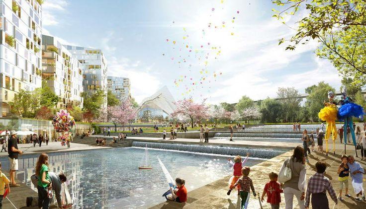 Europea, un futur ovni dans le paysage urbain - Cyberarchi Jean-Paul Viguier, Unibail Image: Golem-images