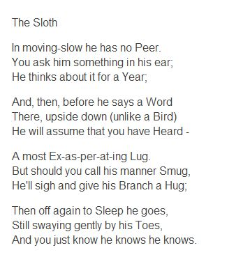 Essay on the sloth theodore roethke