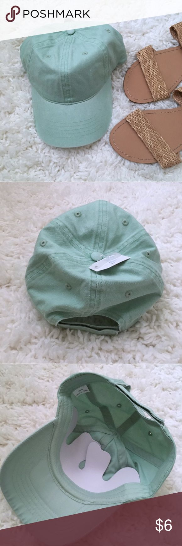 NWT Mint Green Baseball Cap New with tags! I'm just not a hat person no matter how hard I try 😜  sandals are also listed for sale! Accessories Hats