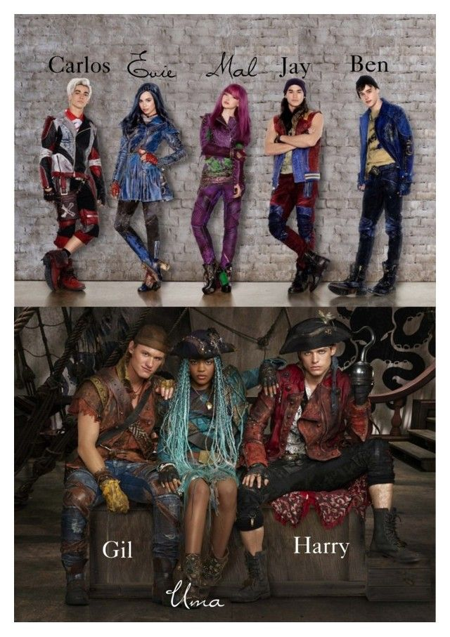 """""""~Disney Descendants 2 pictures first look at the new villain kids~"""" by geminiemerald91 ❤ liked on Polyvore featuring art"""