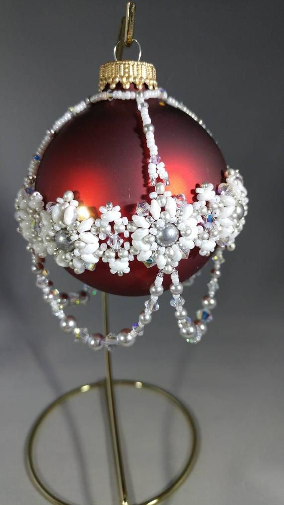 Beaded Ornament Using 2 Hole Cabochons 2 Hole Super Duos Several
