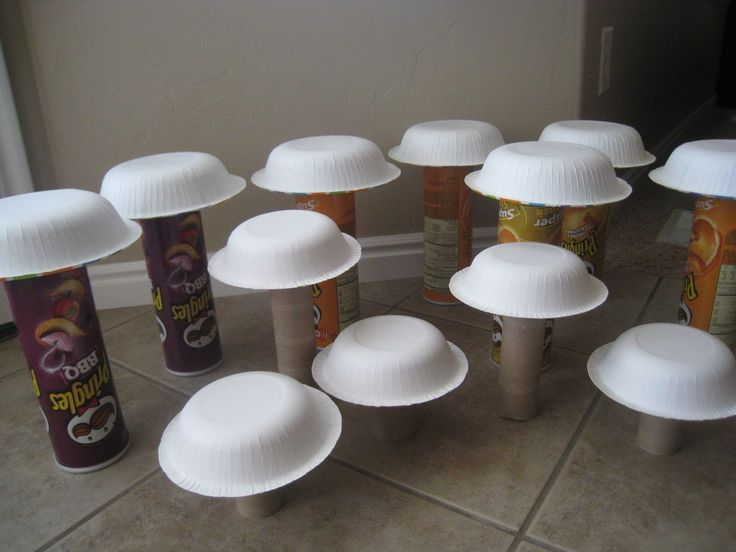 paper mache toadstool make - Google Search