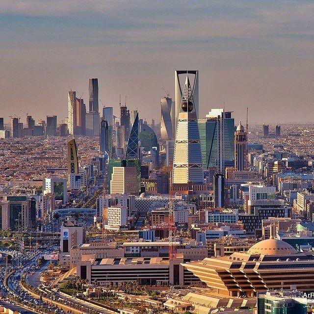 The Bizarre Skyline Of Riyadh 1017x1017 Cityporn Skyline Riyadh Saudi Arabia Riyadh