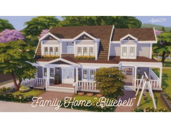 The Sims 4 Family Home Bluebell By Isegrimsims Sims Building