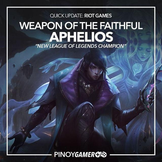 New League Of Legends Champion Aphelios League Of Legends Characters League Of Legends Mobile Legends
