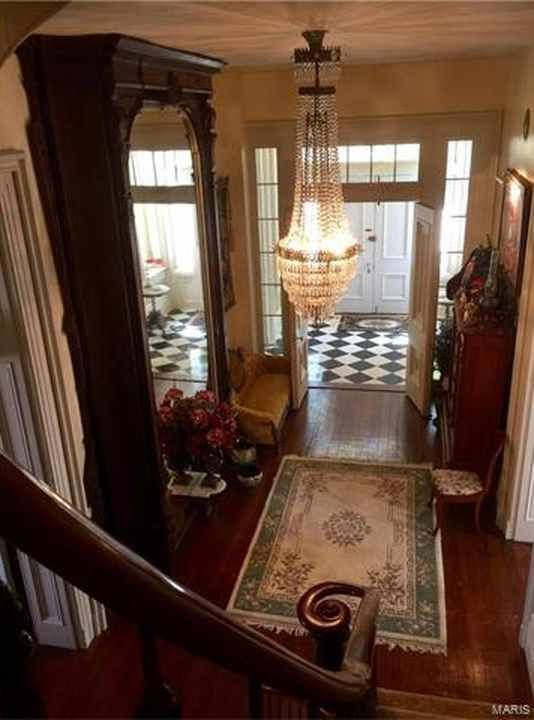 Old House Foyer : C italianate louisiana mo  old house