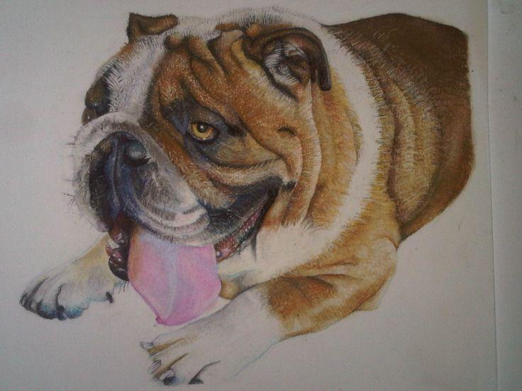 Nelson drawn in in chalk pastel