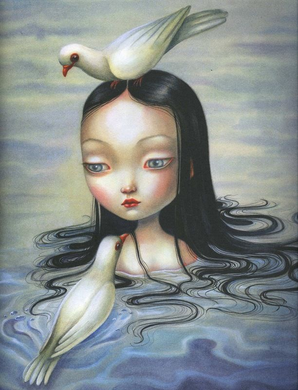 "Illustrator Benjamin Lacombe   Tales of the Brothers Grimm  conte de fées ""Blanche-Neige""  Pays France  Année 2011  Editeur Luis Vives Editorial"