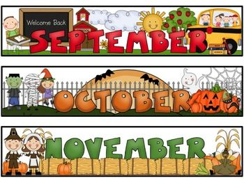 month labels for storage bins