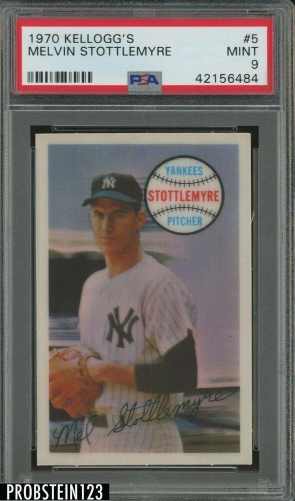 1970 Kelloggs 3 D 5 Melvin Stottlemyre New York Yankees Psa 9 Mint