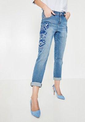 479f2181aa Jeansy typu boyfriend - Ciemny jeans - Jeansy - Kobiety - Promod ...