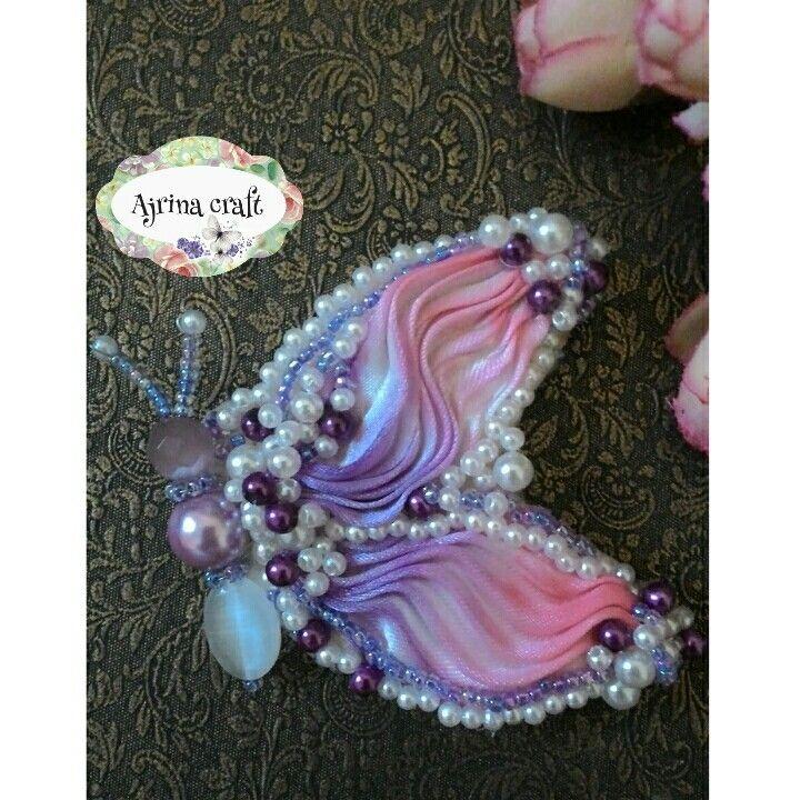 Shibori beads butterfly
