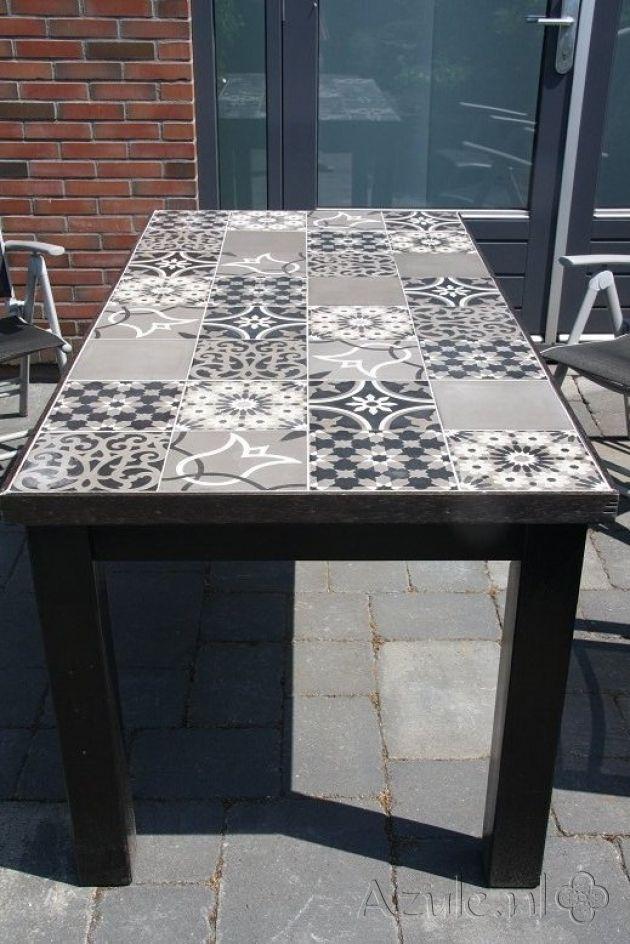 Cement tiles Patchwork! - Patchwork Black White - Project van Designtegels.nl