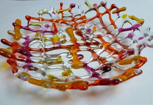 Fused glass Splash Bowl £30.00