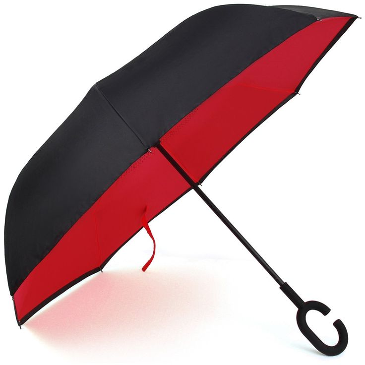 Auto Open Windproof UV Protection Inverted Umbrella Cars Reverse folding Umbrellas, Larger C Shaped Hook Handle for Firmer Grip by E-Joy