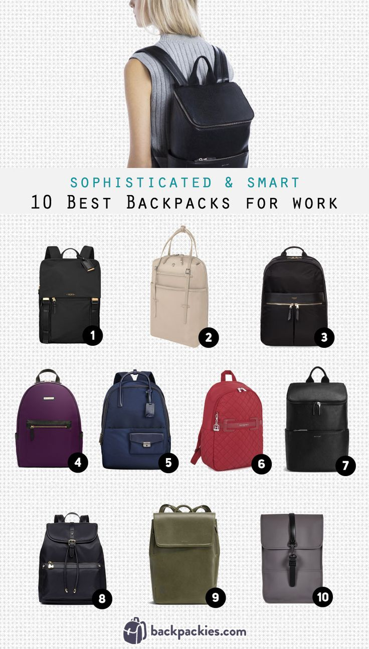 Learn more about our sophisticated women's backpacks for work. Whether you need a professional women's business backpack or a backpack that will go with your smart outfit, we have you covered!