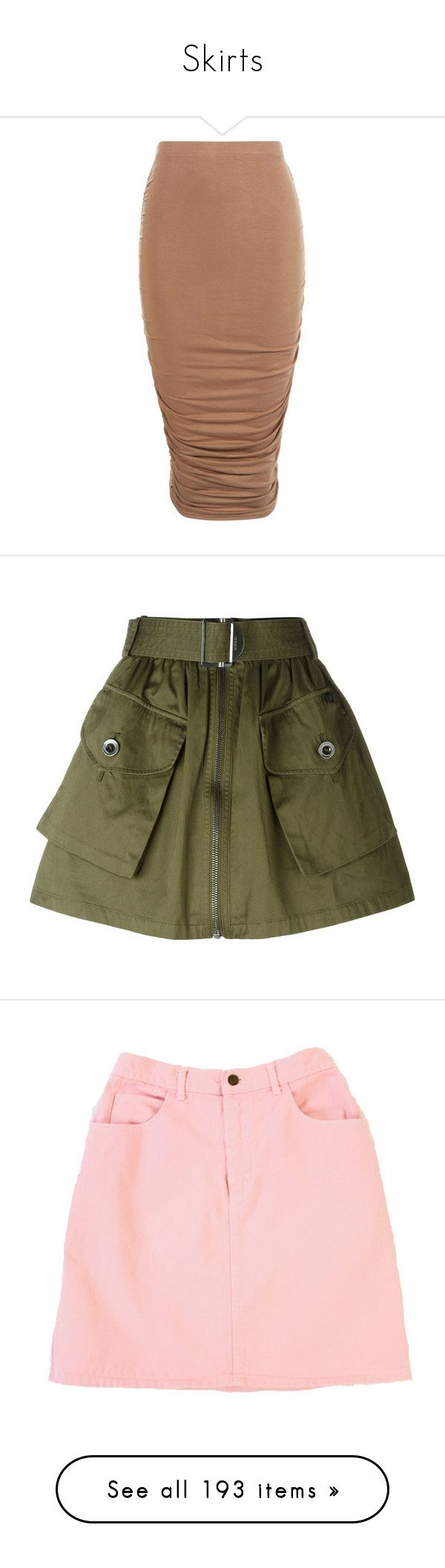 """""""Skirts"""" by xovml ❤ liked on Polyvore featuring skirts, bottoms, tube skirts, ruched skirt, midi tube skirt, high waisted midi skirt, ruched midi skirt, green, diesel skirts and green skirt"""