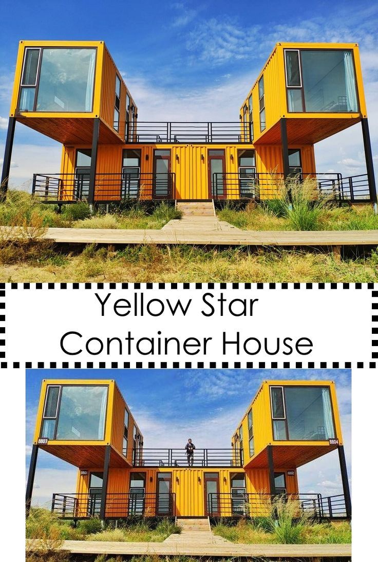 Yellow Star Container House Shipping Container House Plans Container House Plans Sea Container Homes