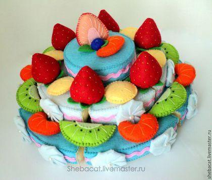 Детский торт с котом фото 5