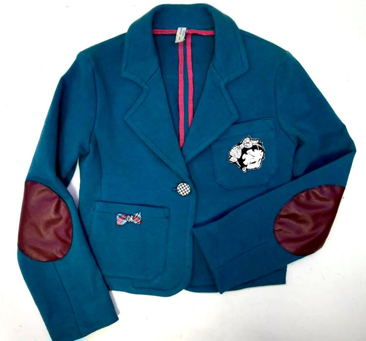Girl's jacket, 122/7 years, knitted sweatshirt cotton by Tremokidz on Etsy
