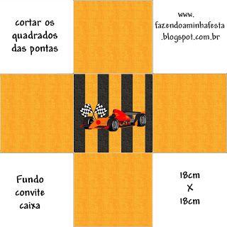 Cajitas Imprimibles de fórmula 1. | Ideas y material gratis para fiestas y celebraciones Oh My Fiesta!