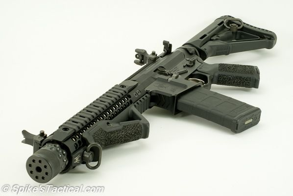 Spike's Tactical Compressor; Suppressed SBR in .300 AAC Blackout. $2600 + $400 in tax stamps.